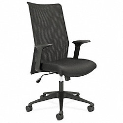 Work / Task Chair, 250 lb., Black