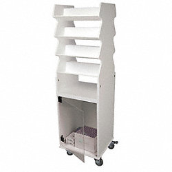 Tilted Safety Shelf Cart
