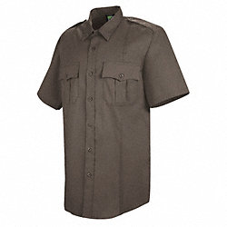 Deputy Deluxe Shirt, SS, Brown, 16-1/2 In.