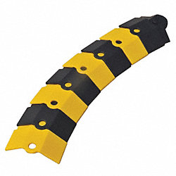 ultratech cable protector black and yellow 1 ft cable protection system components 14n917. Black Bedroom Furniture Sets. Home Design Ideas