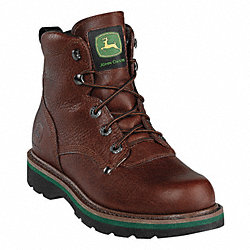 Boots, Steel Toe, Leather, 6 In, 9, PR