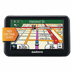 GPS Navigator, Touchscreen, 4.3 In.