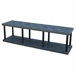 Bulk Shelving, Solid Top, 2 Shelf, 96x24x27