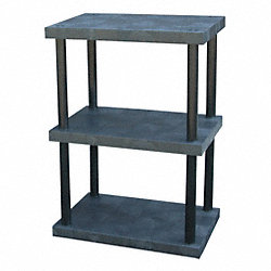 Bulk Shelving, Solid Top, 3 Shelf, 36x24x51