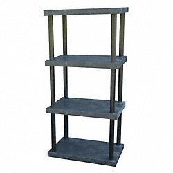 Bulk Shelving, Solid Top, 4 Shelf, 36x24x75