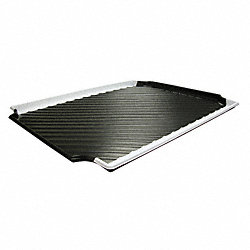 Containment Tray, Black w/White Stripe