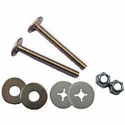 Closet Bolt Set, Steel, Universal Fit