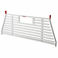 Louvered Cab Protector, White, Steel, 71 In