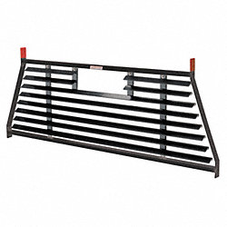 Louvered Cab Protector, Black, Steel, 71 In