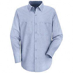 Lng Slv Shirt, Blu, 65% PET/35% Ctn , MT