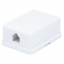 Surface Mount Box, 6P2C, 1P, Comp, Wht