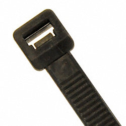 Cable Tie, 17 In L, Black, Pk 100
