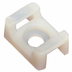 Cable Tie, 50 Lb Capacity, White, Pk 100
