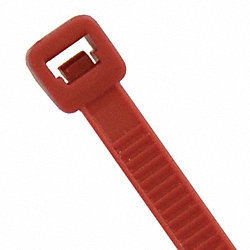 Cable Tie, 8 In L, Red, Pk 100