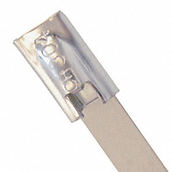 Cable Tie, 20 In L, Silver, Pk 10