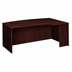 Desk, 48 In.D, Mahogany