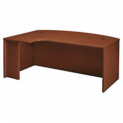 Desk, 48 In.D, Medium Cherry