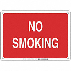 B401 10X14 WHT/RED NO SMOKING