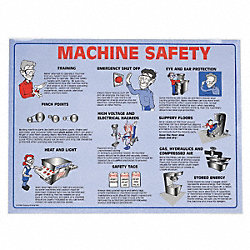 Safety Poster, 18 x 24 In.