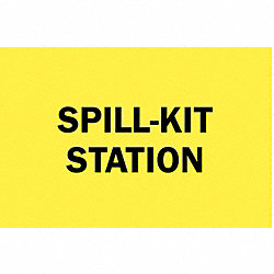 Spill Station Sign, 10 x 10 In.