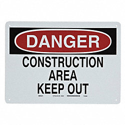 Sign, Construction Area, 10 x 14 In.