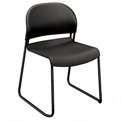 Stacking Guest Chair, Charcoal, PK 4
