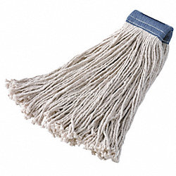 Wet Mop, Cotton, Cut-End, 16 Oz, 4-Ply, PK 12
