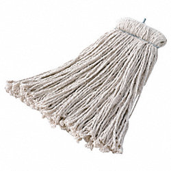 Wet Mop, Cotton, Bolt-On, 16 Oz, 4-Ply, PK 12