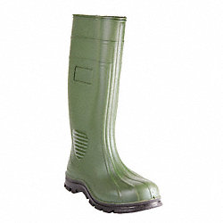 Boots, Plain Toe, PVC, 15 In, Green, 11, PR
