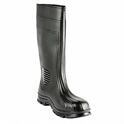 Boots, Steel Toe, PVC, 15 In, Black, 9, PR