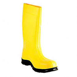 Boots, Steel Toe, SEBS, 15 In, Yellow, 9, PR