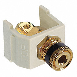 Speaker Post AV Connector, ScrwTerm, Wht