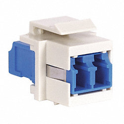 Keystone Adapter, LC Duplex, Office White