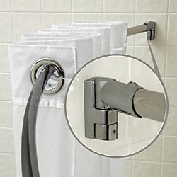 Curved Shower Rod, PK 6