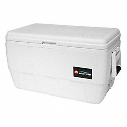 Chest Cooler, Marine, 48 qt., White