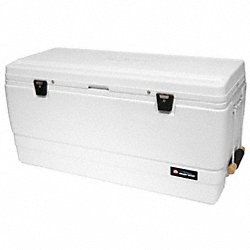 Chest Cooler, Marine, 162 qt., White