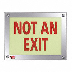 Not An Exit Sign, 9-1/2 x 12-5/16In, R, ENG