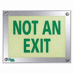 Not An Exit Sign, 9-1/2 x 12-5/16In, ENG