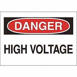 Sign, 7X10, Danger High Voltage, S.