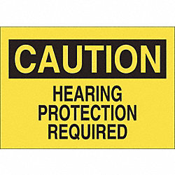 Sign, 7X10, Hearing Protection Required, S.