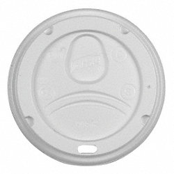 Hot Cup Dome Lid, White, PK 1000