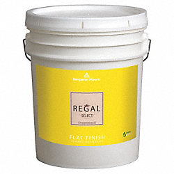 Interior Paint, Flat, 5 gal, Blue Stream