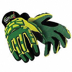 Cut Resistant Gloves, Yellow/Green, 2XL, PR