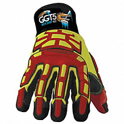Cut Resistant Gloves, Orange/Gray, 3XL, PR