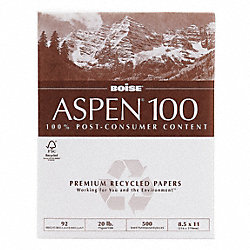 Office Paper, 8-1/2 x 11 In, White, PK 5000