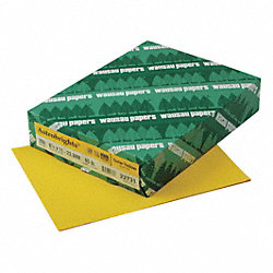 Card Stock, 8-1/2x11, Yellow, PK 250
