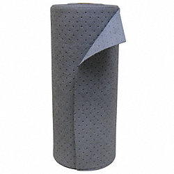 Absorbent Roll, 30 In. W, Gray, 38 gal.