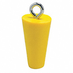 Drain Plug, 2 In, Yellow, PVC