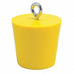 Drain Plug, 4 In, Yellow, PVC
