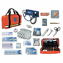 First Aid Kit, Briefcase Style, Orange